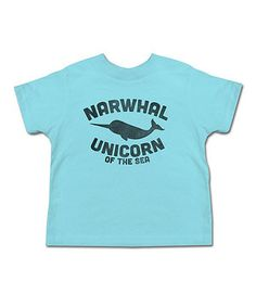 Another great find on #zulily! Aqua 'Narwhal' Tee - Toddler & Kids by Urs Truly #zulilyfinds