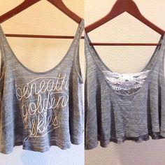 Kendall and Kylie tank top Beneath Golden Skies print Kendall & Kylie Tops Tank Tops