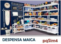Maica pantry by Mary Jiménez at pqSims4 via Sims 4 Updates