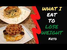 KETO RESTART AGAIN! 😂   KETO CAULIFLOWER HASHBROWNS   KETO STUFFED PORK CHOPS   WHAT I EAT IN A DAY - YouTube Stuffed Pork, Keto Cauliflower, Pork Chops, Waffles, Goodies, Lose Weight, Eat, Breakfast, Youtube