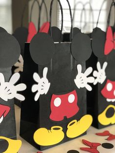 Set of 10 Mickey and Minnie Mouse Birthday Party Favors/ Goodies/ Goody/ Candy/ Treat Bags/ Supplies/ Decoration Mickey 1st Birthdays, Mickey Mouse First Birthday, Mickey Mouse Clubhouse Birthday Party, 1st Boy Birthday, Birthday Ideas, Birthday Parties, Dulceros Mickey Mouse, Mickey Mouse Parties, Mickey Party