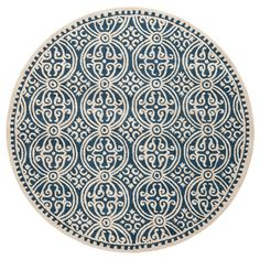 Cambridge Round Rug in Navy Blue                                                                                                                                                     More
