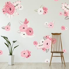 Add this fun pop of floral to your nursery or playroom. The individual decals allow you to customize the flowers into a design you love! Dimensions & Details: - Includes 60 individual flower decals -