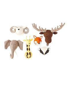 Mounted stuffed animals/ baby room decor