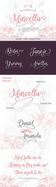 24 Exceptional Quality Fonts | July 2015 | Marcella Script Font by Ian Mikraz | purchased from Design Cuts