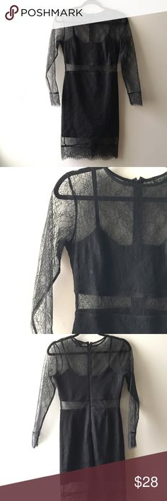 TOPSHOP lace black dress Amazing topshop black lace dress Topshop Dresses
