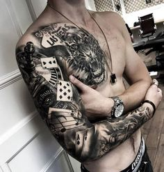 3d tattoo on full sleeve