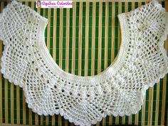 Vintage Caftan Jalabiya Dress Pink Cerise with White Crochet Trimming Free Size Galabeya Crochet Lace Collar, Crochet Yoke, Crochet Blouse, Filet Crochet, Crochet Trim, Irish Crochet, Diy Crochet, Crochet Stitches, Crochet Baby
