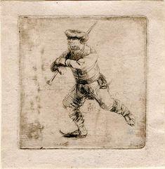 Rembrandt Harmenszoon van Rijn, The Skater, ca. 1639. The Morgan Library & Museum