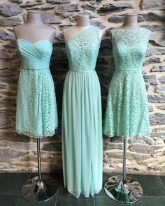 The perfect marriage of blue and green, mint is one of our favorite (and always trending) #IDoHue's! Tag your future 'maids if this is your #weddingcolor and tap the link in our profile to explore more #bridesmaiddresses in this gorgeous shade! #DavidsBridal #DBMaids | Shared via davidsbridal.com