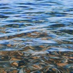 A large canvas, clear water - a favourite and much loved subject. Painted in oils on a fine linen canvas using a combination of layering, blending and glazing. The painted image continues around a...