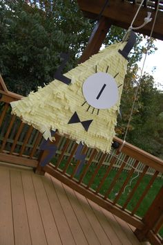 This is our homemade Bill Cypher pinata....easy to make with cardboard, crepe paper and hot glue