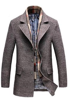 xiaohuoban Mens Stand Collar Quilted Plus Size Jacket Thicken Coat