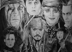 Johnny Depp by Portrait Lc  https://www.facebook.com/PortraitLc  #art #drawing #Graphit #portrait #black #white
