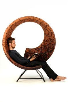 Home/Furniture Design Inspiration - The Urbanist Lab - Twist chair on Furniture Served Unusual Furniture, Funky Furniture, Art Furniture, Furniture Design, Pod Chair, Unique House Design, Furniture Inspiration, Design Inspiration, Cool Chairs