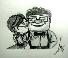 Innocent Love (A Pencil Sketch from UP Movie)