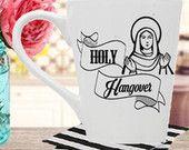 Holy Hangover Mug-14oz. White Porcelain Mug With Graphic