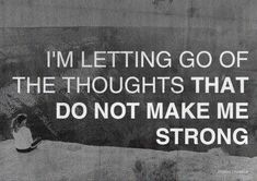 I want to be strong!