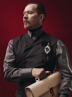 Gary Oldman for Prada Menswear Fall-Winter 2012 - there are not enough words to describe the hotness that is going on here.