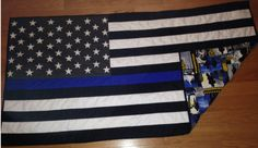 This PATTERN to complete a lap quilt for your favorite law enforcement officer… Blue Line Police, Thin Blue Line Flag, Thin Blue Lines, Flag Quilt, Patriotic Quilts, Quilt Blocks, Lap Quilt Patterns, Stitch Patterns, Crochet Patterns