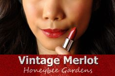 Honeybee Gardens Vintage Merlot is a very wearable gorgeous red lipstick. As matte, it is moisturizing on lips, has a creamy consistency and has a decent wear-time. I really love the effect it gives on my lips while wearing it. Vintage Merlot fades evenly and  gives a soft red tint on lips after long hours of wearing. Leaves lips looking healthy and moisturized.