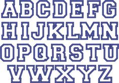 Block Letter Font With Outline