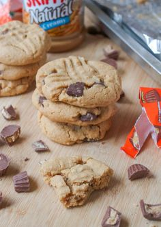 Flourless Peanut Butter Cookies: Replace the sugar with Swerve and use Lily's Sugar-Free Chocolate Chips