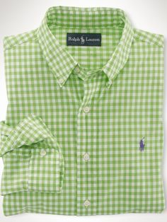 Custom-Fit Gingham Shirt - Polo Ralph Lauren