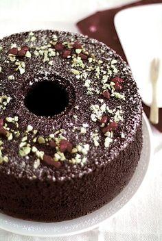 Chocolate Chiffon Cake - Life is Great