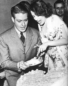 Nelson Eddy and Jeanette MacDonald birthday candid....let them eat cake.