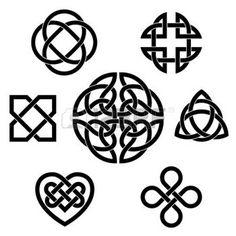 dessin celtique: Ensemble de sept éléments vectoriels infini de noeud celtiques traditionnels