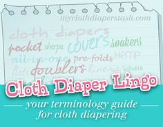 "Cloth Diapering 101: ""BF"", ""BG"", ""AIO"", ""Fluff"", ""Flip""...Say What? Cloth diaper and other related lingo"