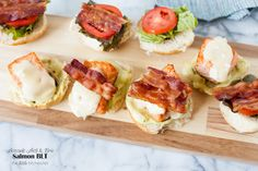 Salmon BLT with an Avocado Aioli & Brie from thelittlekitchen.net