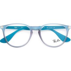 Ray-Ban The Round RB2180V Glasses (11.235 RUB) ❤ liked on Polyvore featuring accessories, eyewear, eyeglasses, blue, blue glasses, acetate glasses, ray ban eyewear, ray ban glasses and rounded glasses