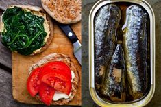 Whenever I fly, I like to go armed with lunch, as the food in airports tends to be both appalling and expensive. Lately I've hitting the road with sandwiches that combine produce with canned fish, like sardines, herring, trout or smoked salmon — all of them high in omega-3 fatty acids, packed with protein and delicious. In some of this week's sandwiches, I used small whole-wheat English muffins that were lightly toasted. The muffins won't fall apart, even with a juicy filling like Greek…