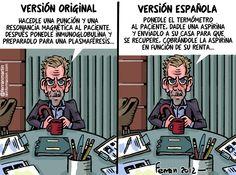 Ferran Martin en La Información. Enviado por verdadverdadera. Humor Grafico, Comic Books, Comics, Cover, House, Original Version, The Originals, Hilarious, Haus