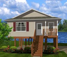 Highwater Getaway - 3476VL | Beach, Cottage, Low Country, Vacation, Narrow Lot, 1st Floor Master Suite, PDF | Architectural Designs