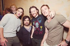 Nicholas Hoult, Peter Dicklage, James McAvoy and Michael Fassbender seen at the 20th Century Fox Presentation at 2013 Comic-Con