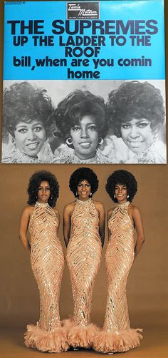 """The first Supremes' single after the departure of Diana Ross that featured Jean Terrell as the group's new lead singer was """"Up the Ladder to the Roof"""" Hear it, with an introduction by Mary Wilson, in my board, """"My Music: The Girls"""". Tune Music, 70s Music, Soul Music, Mary Wilson, Living Single, Black Actresses, Famous Couples, Rhythm And Blues, Black Image"""