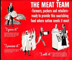 Vivid and overpowering color i food ads: meat. Types Of Meat, Science Books, School Projects, Advertising, Tasty, Jazz, Beef, Antique, Things To Sell