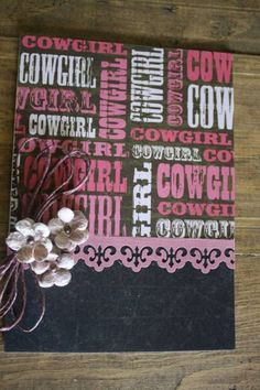 Cowgirl card by littledeb - Cards and Paper Crafts at Splitcoaststampers