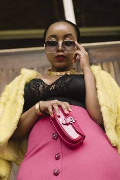 ~Fifty Shades Pink #joliethrone #fashionblogher #kenyanblogger #ootd #styleinspo #fashion #style #chic #badandboujee #fauxfur #highwaist #lace #curvystyle #classy #midiskirt #vsco #potraits #detail #clutchbag Bad And Boujee, Fifty Shades, Curvy Fashion, Clutch Bag, Vsco, Midi Skirt, Personal Style, Ootd, Classy