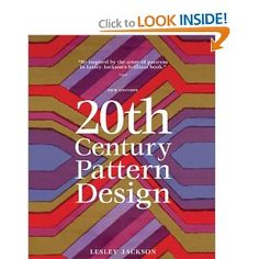 20th Century Pattern Design: Beautiful and informative! TCPD walks you through surface design history by decade, pointing out influential styles and designers. It is a great jumping off point to learn more about designers that you are drawn to and is the perfect book to pull out when you find yourself in a design rut.