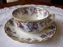 Limoges Floral Tea Cup and Saucer Haviland & Co France