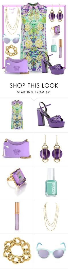 """""""O'er the Garden Wall"""" by barbmama ❤ liked on Polyvore featuring Mary Katrantzou, Gucci, Versace, Valentin Magro, Madyha Farooqui, Essie, Elizabeth Arden, Chanel and Linda Farrow"""