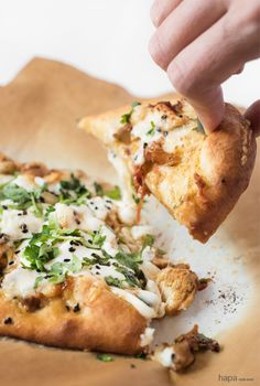 Chicken Tikka Pizza is not just a way to use up leftovers, it's a whole new and wonderful meal! If you like Chicken Tikka Masala and homemade Naan, you're going to love it as a pizza!