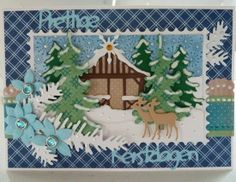 Kerstkaart met mallen van Marianne Design