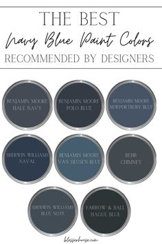 Navy blue paint colors are the kings of classic and versatile with all colors in interior design - finding the perfect one can be tricky.