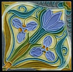 Art Nouveau tile made by: Manufactures Céramique d'Hemixem, Gilliot & Cie, Hemiksem, Belgium. Made around 1900 The tile is in very good condition, bottom has minor damage Very beautiful glaze and relief De tile measures 15.3 x 15.3 cm and is 1 cm thick. The tile will be carefully packed and the package has a track & trace number You will only pay the actual shipping costs, this means in most cases you will only have to pay the shipping costs once even if you buy multiples tiles