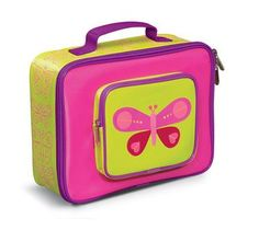 Eco-Friendly Kids Lunch Box, by Crocodile Creek School Lunch Box, School Fun, School Lunches, Butterfly Food, Insulated Lunch Box, Healthy Lunches For Kids, School Items, School Stuff, Metal Lunch Box